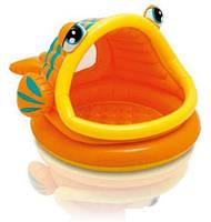 Детский надувной бассейн с навесом Intex 57109 (124-109-71 см.)