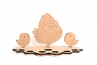 Подставка для яиц Курочка с цыплятами 14,5*28*0,3см ДВП Rosa Talent