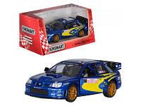 Машинка металлическая инерционная Subaru Impreza WRC 2007 KT 5328 W Kinsmart