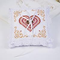 Подушечка для колец 8294 Сердца влюбленных, набор для вышивани