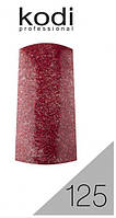 Гель лак №125 красный с блестками Kodi Professional 12 мл CVL /511