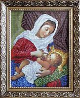 БС Солес БГП Богородица Кормилица (на подушке), набор для вышивания бисером