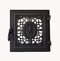Чугунная печная дверца - VVK 33 х 36 см/26х29см