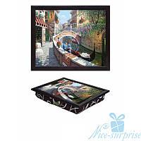 Поднос с подушкой для завтрака в постель Венеция