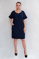 Лаконичное платье с брошкой