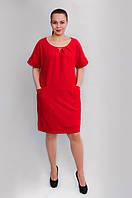 Очаровательное женское платье со складочками на горловине
