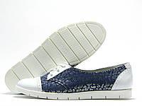 Туфли женские Fabio Gutti синие в цветочек