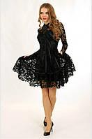 Гипюровое вечернее платье с пышной юбкой P0602 (р.40)
