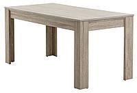 Стол обеденный прямоугольный 80x160см дуб