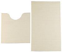 Набор ковриков в ванную комнату бежевые 48х80/48х48 см