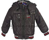 Куртка, для мальчика, теплая, на флисе, 1-4 лет цвет серый