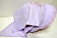 Панамка-косынка на завязках  для девочки сиреневая