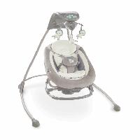 Детская качель - шезлонг Bright Starts Delux 2в1 Зебра 10076