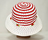Шляпа летняя плетёная для девочки красная