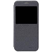 Кожаный чехол Nillkin Sparkle для Samsung Galaxy S6 чёрный
