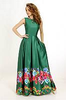 Вечернее платье с цветочным принтом G0836 (р.40-44)