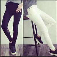 Черные и белые штаны-леггинсы высокая посадка