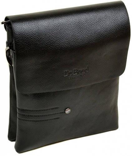 Практичная мужская вместительная сумка планшет из искусственной кожи dr.Bond 88359-3 black