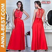 """Вечернее красное макси платье """"Ирония"""""""