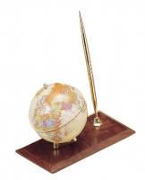Набор настольный подарочный - Глобус на деревянной подставке красное дерево