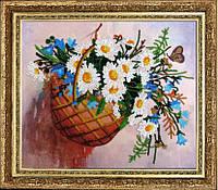 """Набор для вышивания бисером """"Корзинка с цветами"""""""