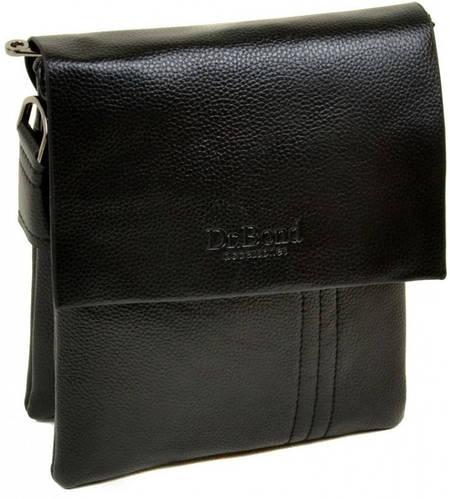 Удобная мужская сумка-планшет из искусственной кожи dr.Bond 88334-2 black