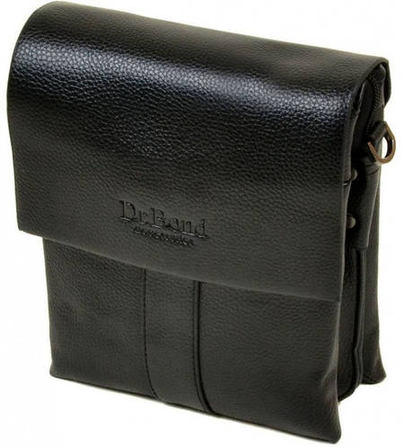 Элегантная мужская вместительная сумка планшет из искусственной кожи dr.Bond 88337-1 black