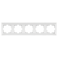 Пятерная горизонтальная рамка  белая VIKO Meridian (90979015)