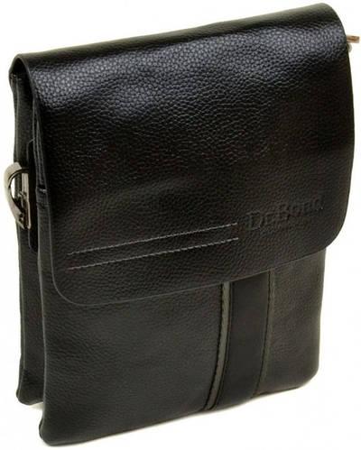 Классическая мужская сумка-планшет из искусственной кожи dr.Bond 88328-1 black