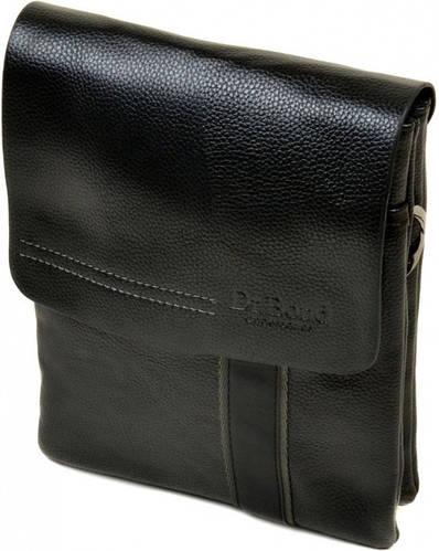 Эффектная мужская сумка-планшет из искусственной кожи dr.Bond 88328-2 black