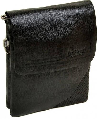Практичная мужская вместительная сумка планшет из искусственной кожи dr.Bond 88335-2 black