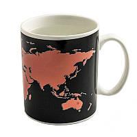 """Чашка хамелеон """"Карта мира"""""""