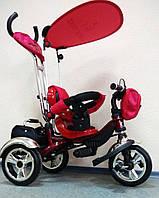 Детский трехколесный велосипед Lexus Trike KR01 красный с дополнительной подножкой, колеса EVA Foam