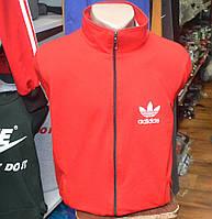 Спортивный трикотажный костюм Adidas, производства Украина (красного цвета)