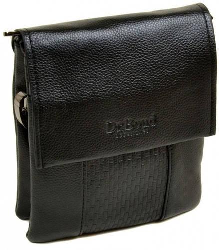 Небольшая мужская сумка-планшет из искусственной кожи dr.Bond 88324-1 black