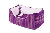 "AnimАll  лежак для собак   ""Natural"" (100% cotton) №1 двусторонний  45 × 25*23 cm сиреневый, фото 1"