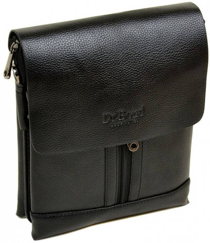 Практичная мужская сумка-планшет из искусственной кожи dr.Bond 88282-2 black