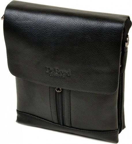 Компактная мужская сумка-планшет из искусственной кожи dr.Bond 88282-3 black