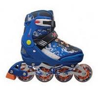 Роликовые коньки REKON (27-30 размер) синие