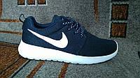Подростковые беговые кроссовки NIKE Roshe Run темно синие