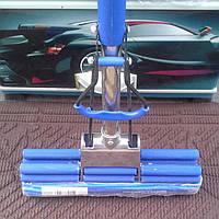 """Швабра силиконовая телескоп с механическим отжимом """"Кит"""" и ручкой косичка"""