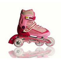 Ролики раздвижные Amigo-sport CHEEKY (36-39 размер) розовые