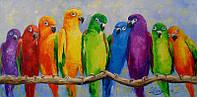 «Попугайчики» картина маслом