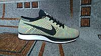 Женские кроссовки для бега Nike Flyknit Racer rainbow радуга
