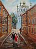 «Виды Киева. Андреевская церковь» картина маслом
