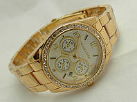 Часы женские Michael Kors цвет золото, индикация даты, cristal