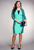 Женское платье бирюзового цвета