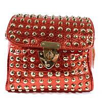 Клатч, сумочка женская с шипами 3340 красная, расцветки в наличии