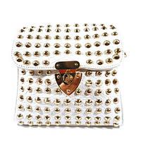 Клатч, сумочка женская с шипами 3340 белая, расцветки в наличии