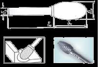 Проминструмент Е 12х20х6х65 d ВК8  Борфрезы твердосплавные овальные